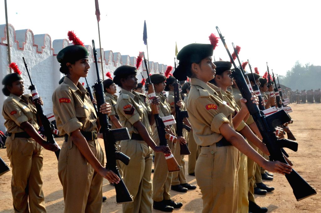Republic Day rehearsals underway at the Mankeshaw Grounds in Bengaluru, on Jan 22, 2015.