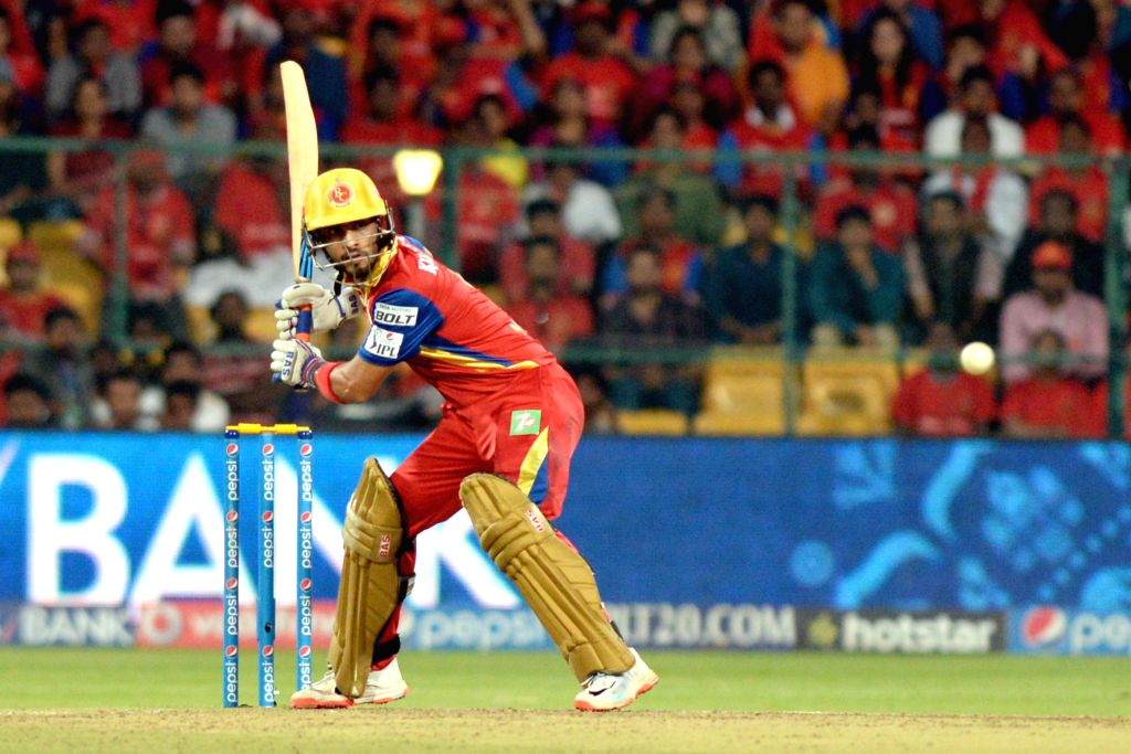 Royal Challengers Bangalore batsman Mandeep Singh in action during an IPL-2015 match between Royal Challengers Bangalore and Kolkata Knight Riders at M Chinnaswamy Stadium in Bangaluru on ... - Mandeep Singh