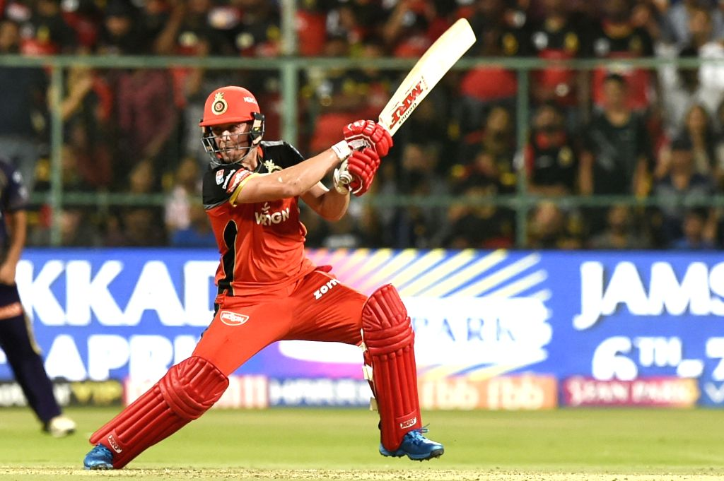 Bengaluru: Royal Challengers Bangalore's AB de Villiers in action during the 17th match of IPL 2019 between Kolkata Knight Riders and Royal Challengers Bangalore at M.Chinnaswamy Stadium in Bengaluru on April 5, 2019. (Photo: IANS)