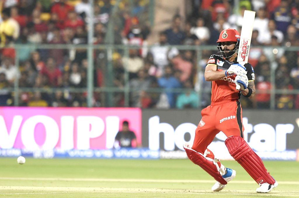 Bengaluru: Royal Challengers Bangalore's skipper Virat Kohli in action during the 17th match of IPL 2019 between Kolkata Knight Riders and Royal Challengers Bangalore at M.Chinnaswamy Stadium in Bengaluru on April 5, 2019. (Photo: IANS) - Virat Kohli