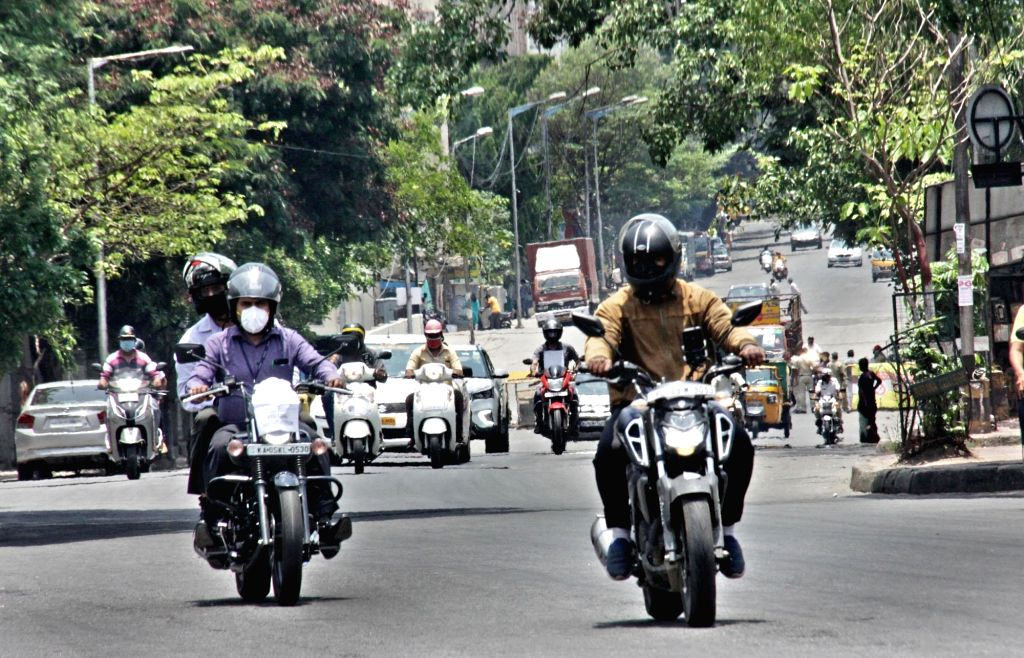 Bengaluru's JC Road witnesses normal traffic during the extended nationwide lockdown imposed to mitigate the spread of coronavirus; on Apr 22, 2020.
