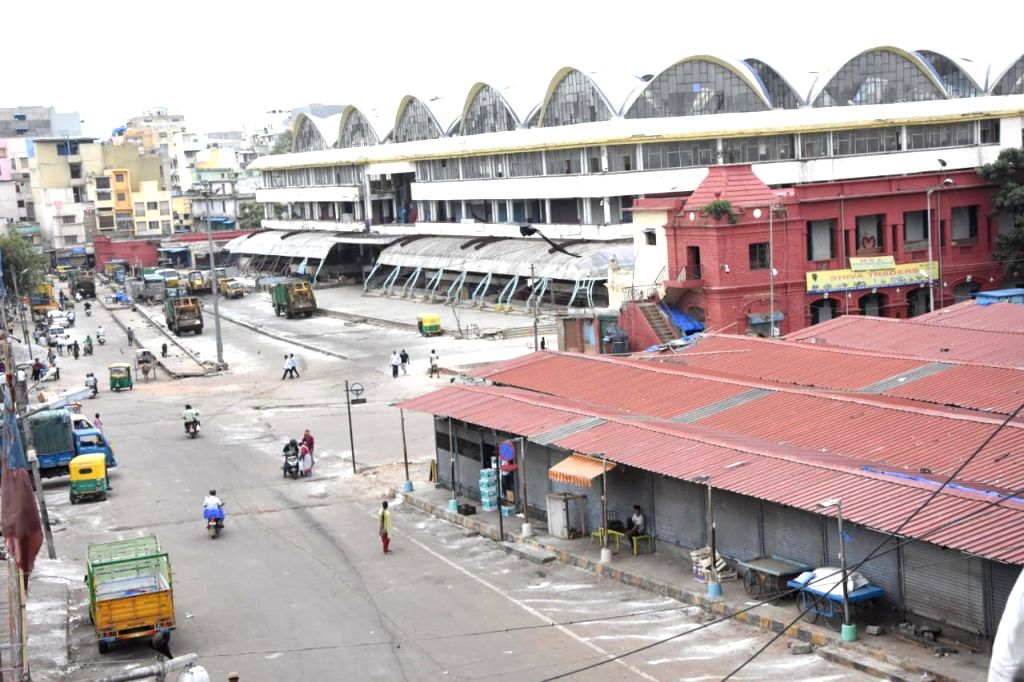Bengaluru's KR Market has been sealed by the district authorities during a strict lockdown that has been re-imposed for 15 days in five wards across the city to contain the spread of ...