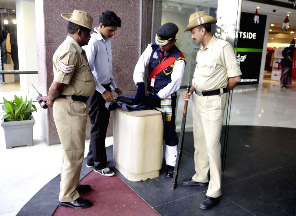 Security beefed-up in Bengaluru following threats from ISIS, or IS as it is called, in Bengaluru, on Dec 16, 2014.