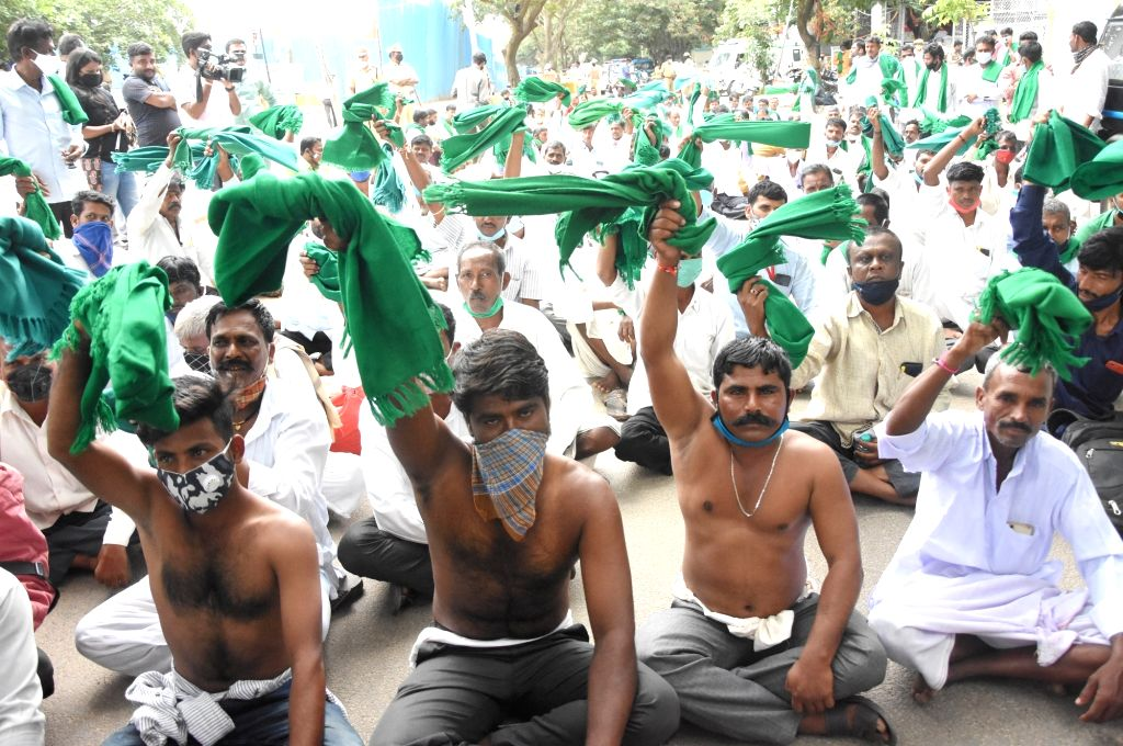 Bengaluru, Sep 23 (IANS) The Karnataka Rajya Raitha Sangha on Wednesday called for a statewide shutdown on September 28 in protest against the farm Bills passed in the Parliament.