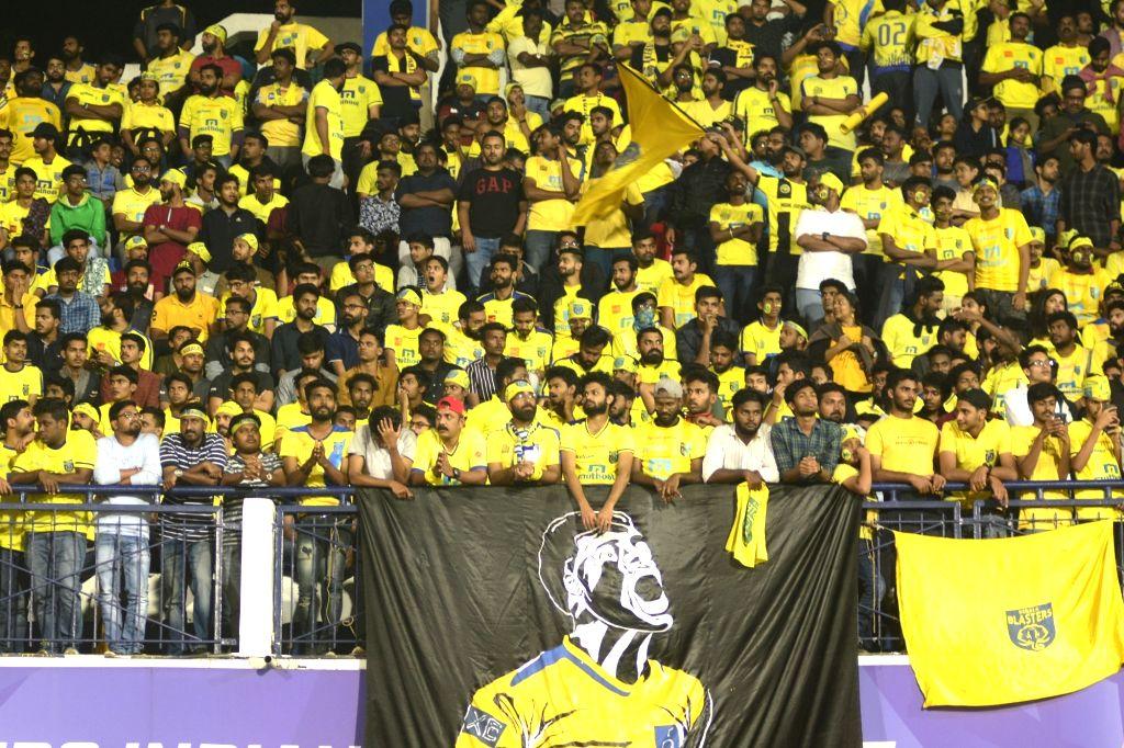 Bengaluru: Spectators during an ISL match between Bengaluru FC and Kerala Blasters FC in Bengaluru on Nov 23, 2019. (Photo: IANS)