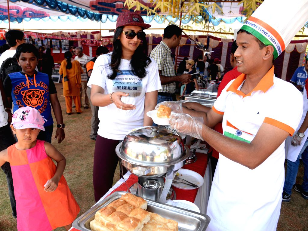 Students and teachers from 30 different nationalities partake in International Food Fair 2015 in Bengaluru on Feb. 1, 2015.