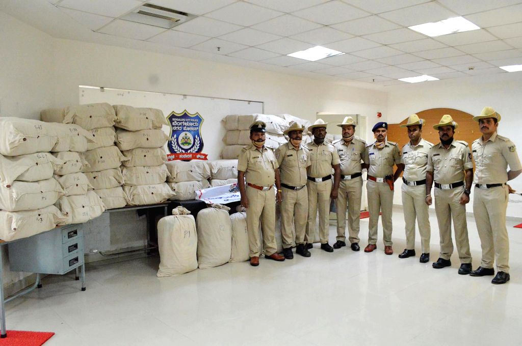 Bengaluru: The Bengaluru City police busted an inter-state ganja sale network and seized a whopping 1,350 kg of the drug worth nearly Rs 4 crore, in Bengaluru on Sep 10, 2020. The police has arrested four persons in this connection. Preliminary inves