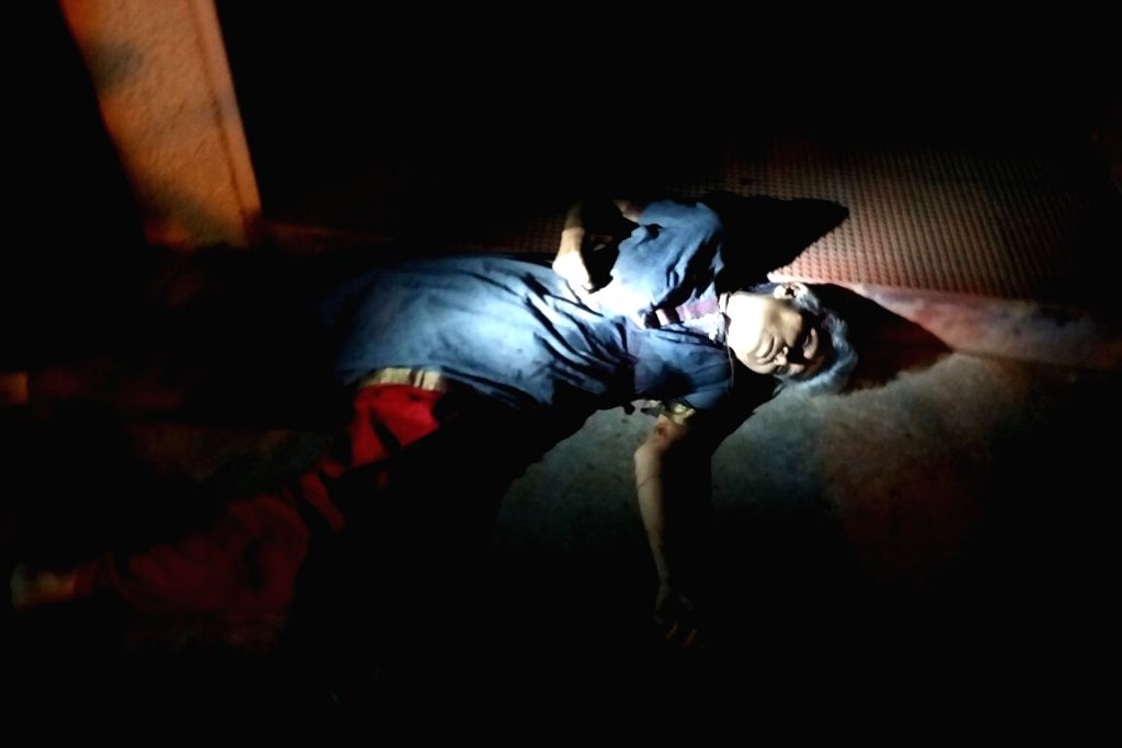 Bengaluru: The body of Senior journalist Gauri Lankesh, who was shot dead by unidentified men at her residence, Rajarajeshwari Nagar in Bengaluru on Sept 5, 2017. (Photo: IANS)
