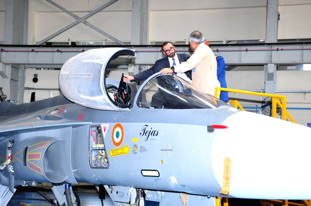 : Bengaluru: UAE's MoS Defence Affairs Mohammed Ahmed Al Bowardi Al Falacy during his visit to Hindustan Aeronautics Limited (HAL) facility in Bengaluru, on Oct 17, 2018. (Photo: IANS).