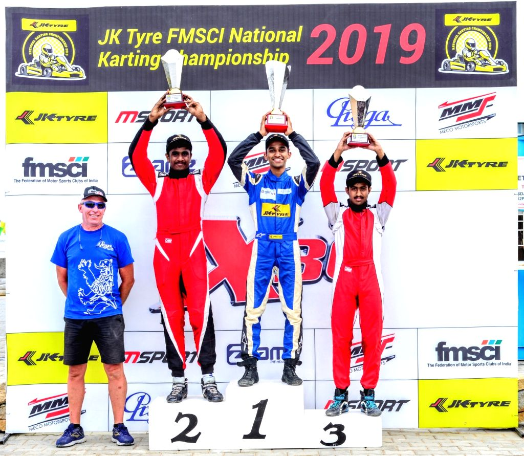 Bengaluru: Winners of X-30 FMSCI National Karting Championship, Round 4  (Senior Category) - Nirmal Umashankar (Chennai) 137 points; Debarun Banerjee (Delhi) 81 points and Aditya Swaminathan (Bangalore) 79 points, at the Meco Kartopia near Bengaluru  - Debarun Banerjee