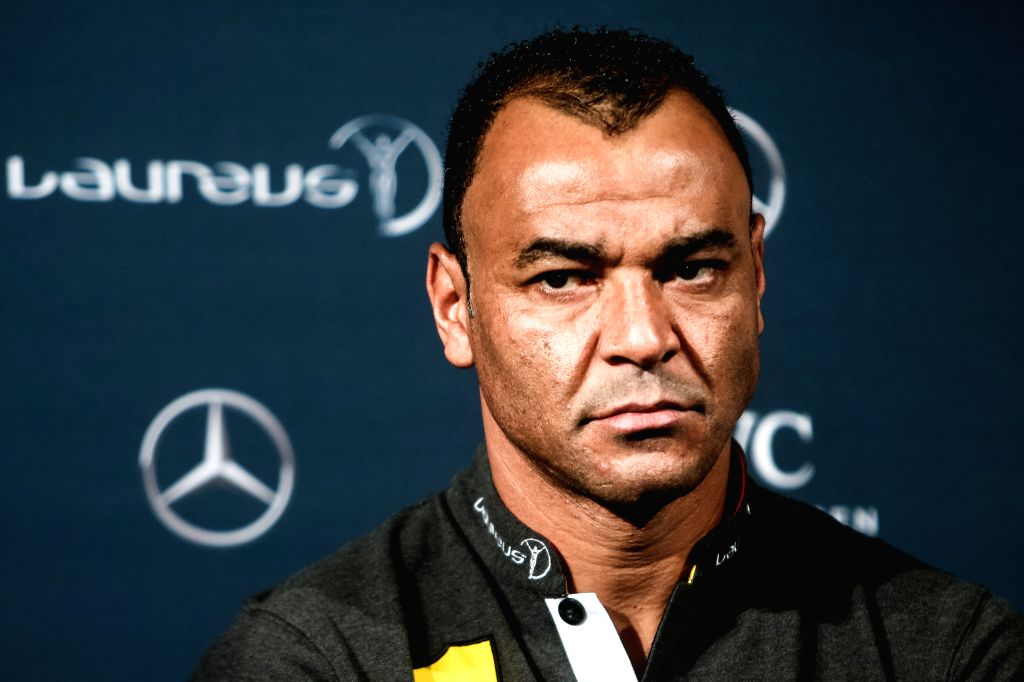 BERLIN, April 18, 2016 - Former Brazilian football player Cafu attends a press conference prior to the 17th Laureus World Sports Award ceremony in Berlin, Germany, April 18, 2016.