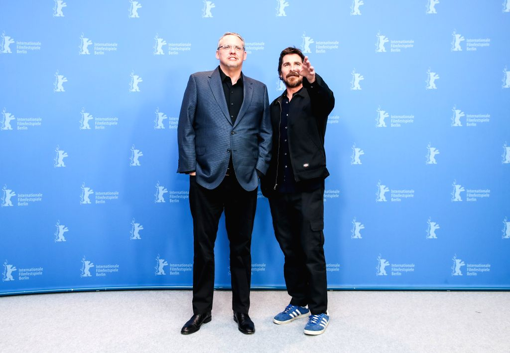 """BERLIN, Feb. 12, 2019 - Director and screenwriter Adam McKay (L) and actor Christian Bale of the film """"Vice"""" attend a photocall during the 69th Berlin International Film Festival in Berlin, ... - Christian Bale"""