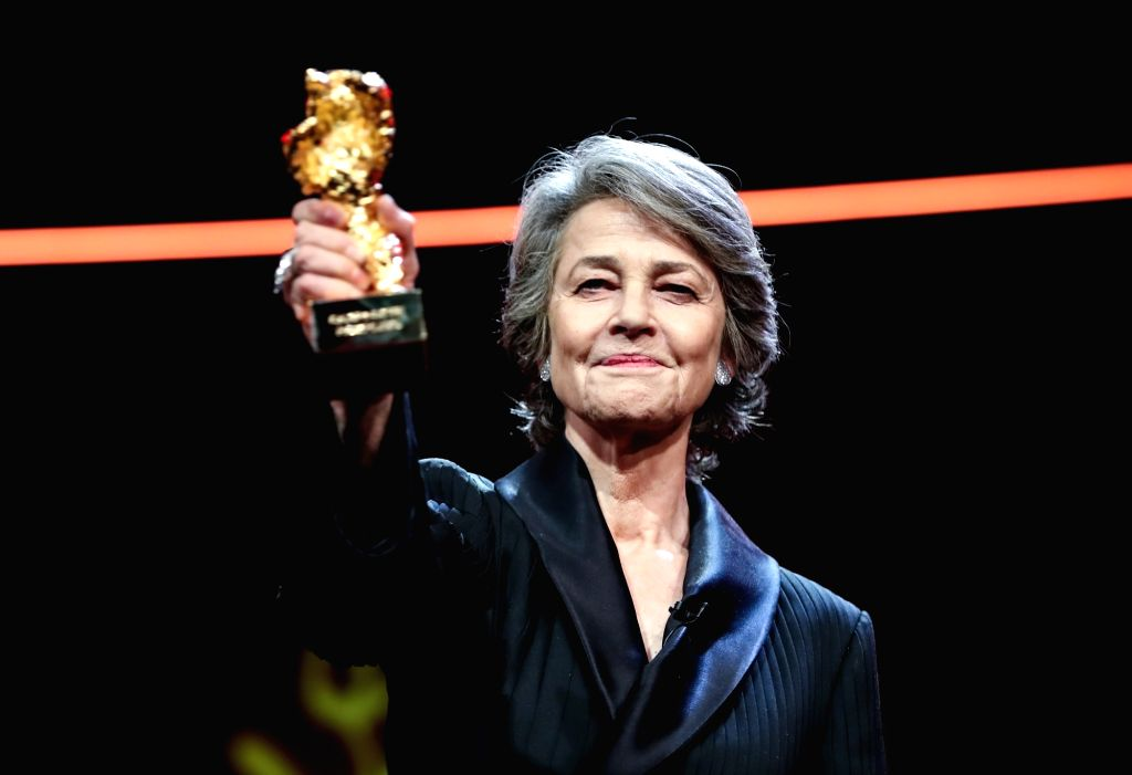 BERLIN, Feb. 15, 2019 - British actress Charlotte Rampling, winner of the Honorary Golden Bear prize for lifetime achievement, poses for photos on the red carpet during the 69th Berlin International ... - Charlotte Rampling