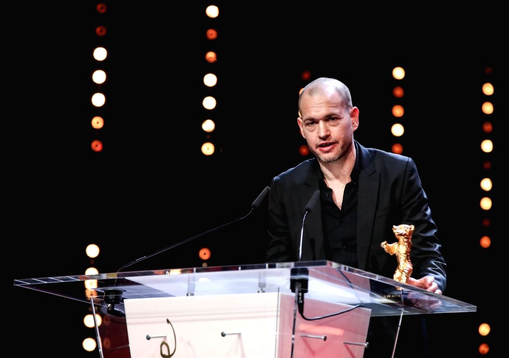 """BERLIN, Feb. 17, 2019 - Director Nadav Lapid receives the Golden Bear for Best Film award for """"Synonymes"""" (Synonyms) during the awards ceremony of the 69th Berlin International Film ..."""