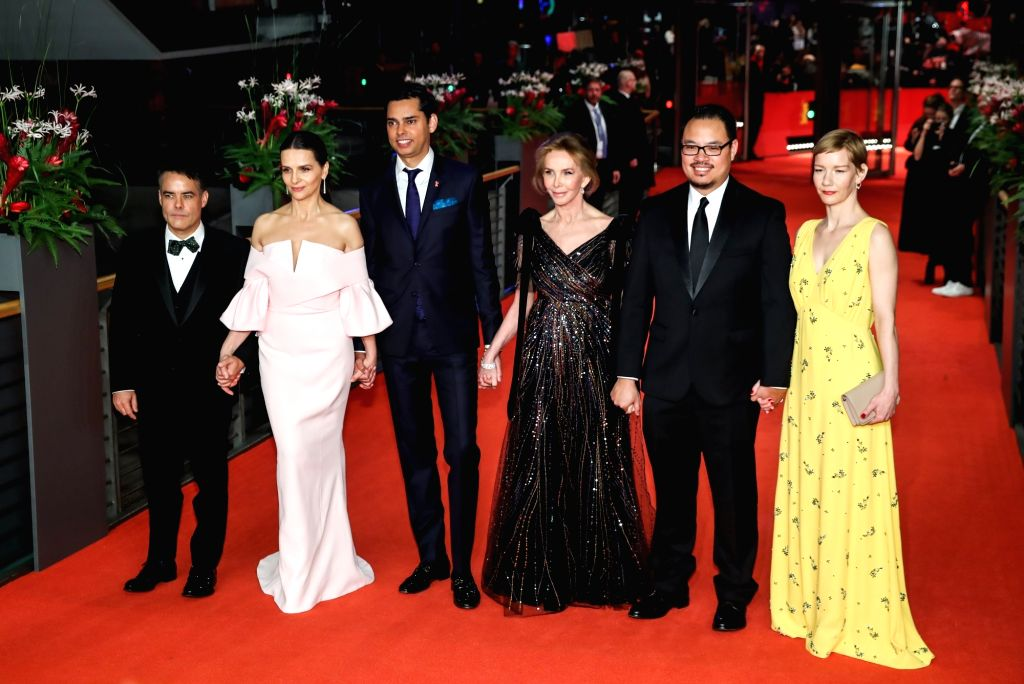 BERLIN, Feb. 17, 2019 - Members of the Berlinale 2019 Jury pose for photos on the red carpet prior to the awards ceremony of the 69th Berlin International Film Festival (Berlinale) in Berlin, capital ...