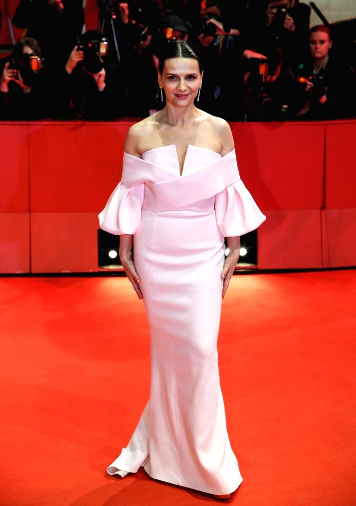 BERLIN, Feb. 17, 2019 - President of the Berlinale 2019 Jury Juliette Binoche poses for photos on the red carpet prior to the awards ceremony of the 69th Berlin International Film Festival ...