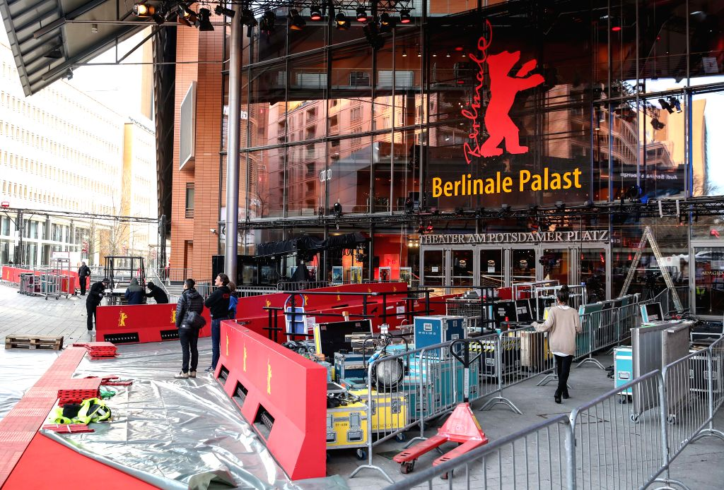 BERLIN, Feb. 6, 2019 - Photo taken on Feb. 6, 2019 shows a view of the construction site in front of Berlinale Palast in Berlin, capital of Germany. The 69th Berlin International Film Festival will ...