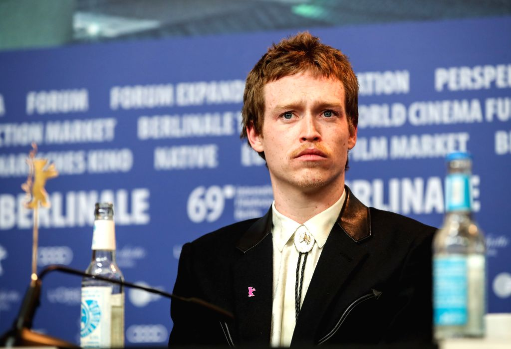 """BERLIN, Feb. 7, 2019 - Actor Caleb Landry Jones of the film """"The Kindness of Strangers"""" attends a press conference during the 69th Berlin International Film Festival in Berlin, capital of ... - Caleb Landry Jones"""