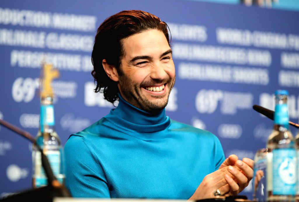 """BERLIN, Feb. 7, 2019 - Actor Tahar Rahim of the film """"The Kindness of Strangers"""" attends a press conference during the 69th Berlin International Film Festival in Berlin, capital of Germany, ... - Tahar Rahim"""