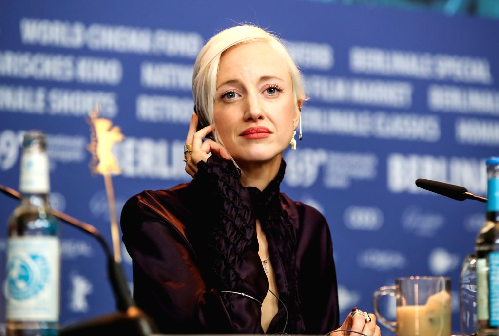 """BERLIN, Feb. 7, 2019 - Actress Andrea Riseborough of the film """"The Kindness of Strangers"""" attends a press conference during the 69th Berlin International Film Festival in Berlin, capital of ... - Andrea Riseborough"""