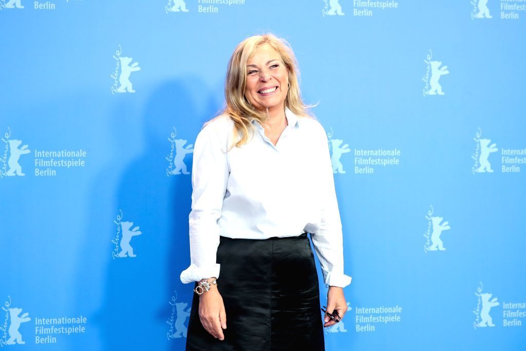 """BERLIN, Feb. 7, 2019 - Director Lone Scherfig of the film """"The Kindness of Strangers"""" attends a photocall during the 69th Berlin International Film Festival in Berlin, capital of Germany, ..."""
