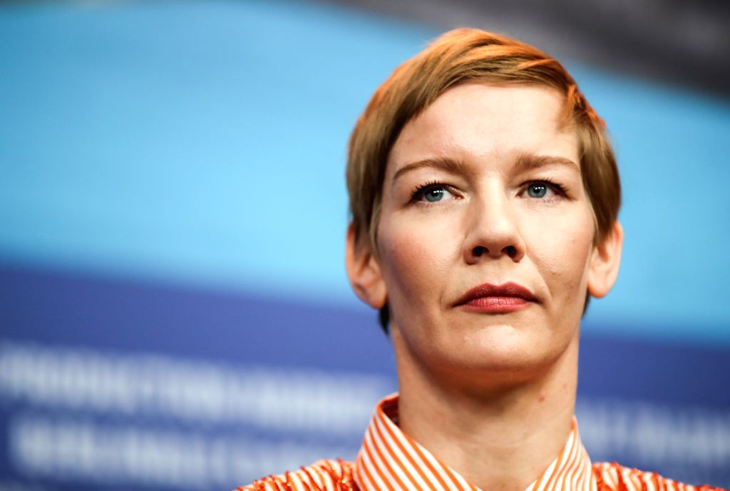BERLIN, Feb. 7, 2019 - Member of the Berlinale 2019 jury Sandra Hueller attends a press conference during the 69th Berlin International Film Festival in Berlin, capital of Germany, Feb. 7, 2019. The ...
