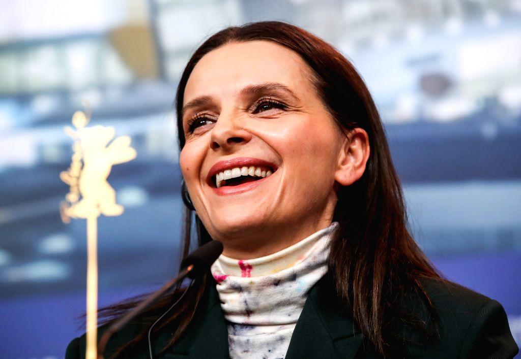 BERLIN, Feb. 7, 2019 - President of the Berlinale 2019 jury Juliette Binoche attends a press conference during the 69th Berlin International Film Festival in Berlin, capital of Germany, Feb. 7, 2019. ...