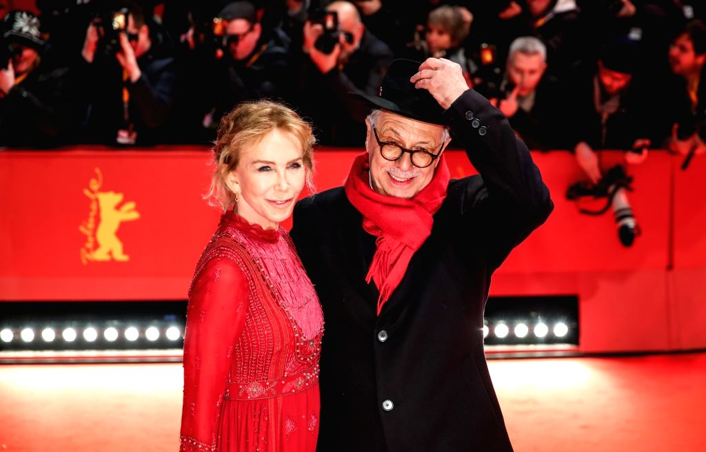 BERLIN, Feb. 8, 2019 - Berlinale director Dieter Kosslick (R) and member of the Berlinale 2019 Jury Trudie Styler pose for photos on the red carpet of the opening ceremony of the 69th Berlin ... - Dieter Kosslick