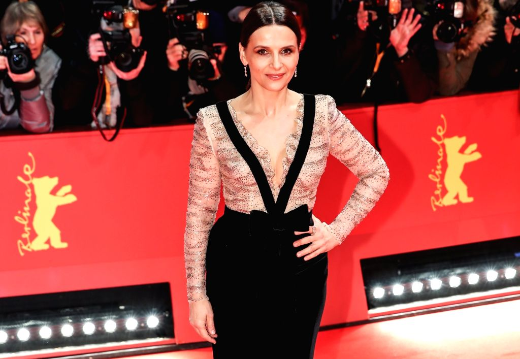 BERLIN, Feb. 8, 2019 - President of the Berlinale 2019 Jury Juliette Binoche poses for photos on the red carpet of the opening ceremony of the 69th Berlin International Film Festival in Berlin, ...