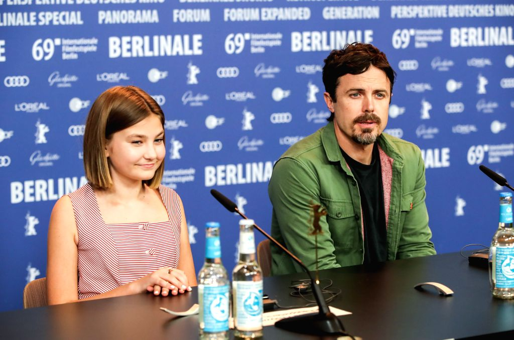 "BERLIN, Feb. 9, 2019 - Director, screenwriter and actor Casey Affleck (R) and actress Anna Pniowsky of film ""Light of My Life"" attend a press conference during the 69th Berlin International ... - Casey Affleck"