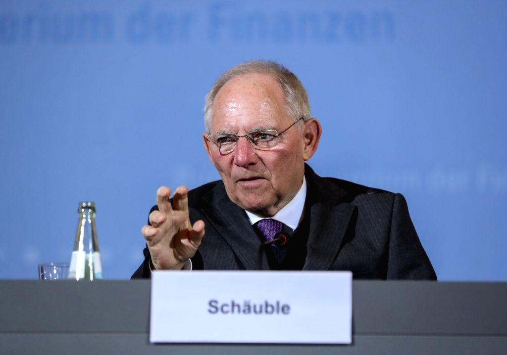 BERLIN, March 16, 2017 - German Finance Minister Wolfgang Schaeuble attends a joint press conference with visiting U.S. Treasury Secretary Steven Mnuchin (not seen in the picture) after their meeting ... - Wolfgang Schaeuble