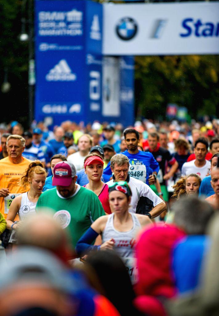 BERLIN, Sept. 29, 2019 - Runners start during the Berlin Marathon 2019 in Berlin, capital of Germany, Sept. 29, 2019.