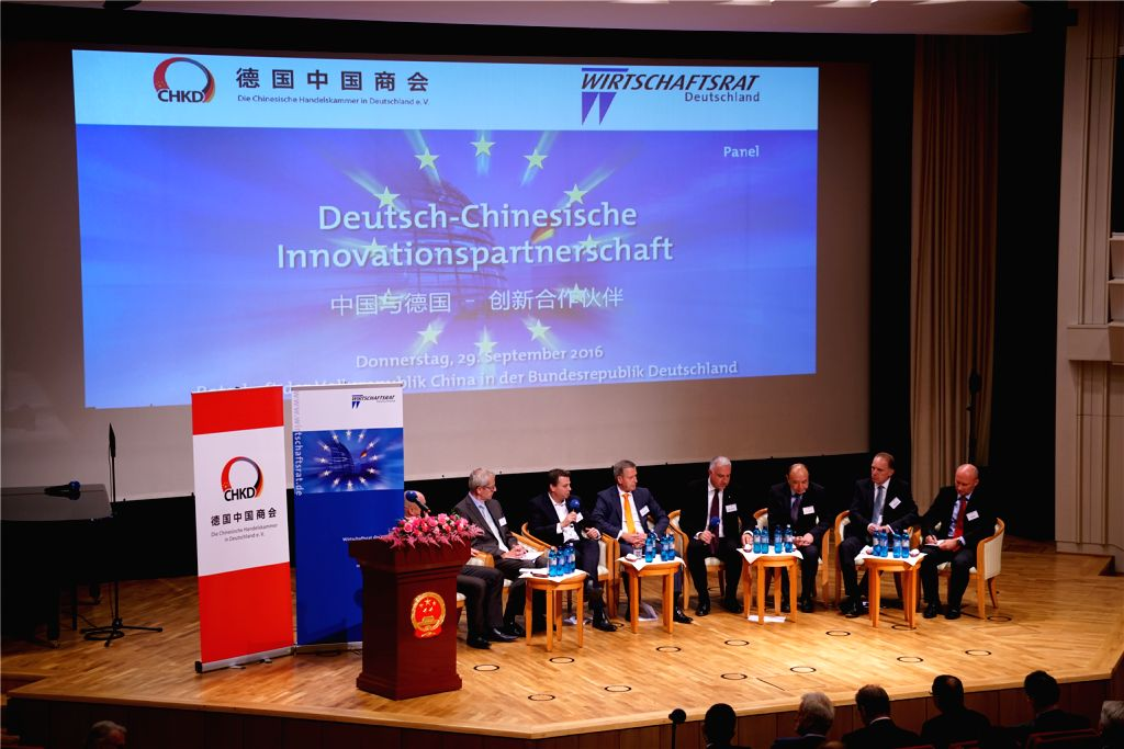 BERLIN, Sept. 30, 2016 - Representatives attend the second Sino-German economic dialogue in Berlin, Germany, Sept. 29, 2016. Over 200 representatives from German business and political circles, as ...