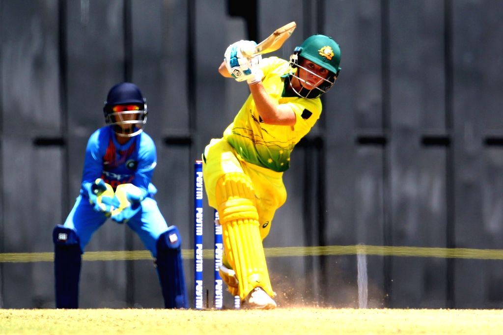 Beth Mooney of Australia in action during the women's tri-series T20I match between India and Australia at the Brabourne Stadium in Mumbai on March 22, 2018.