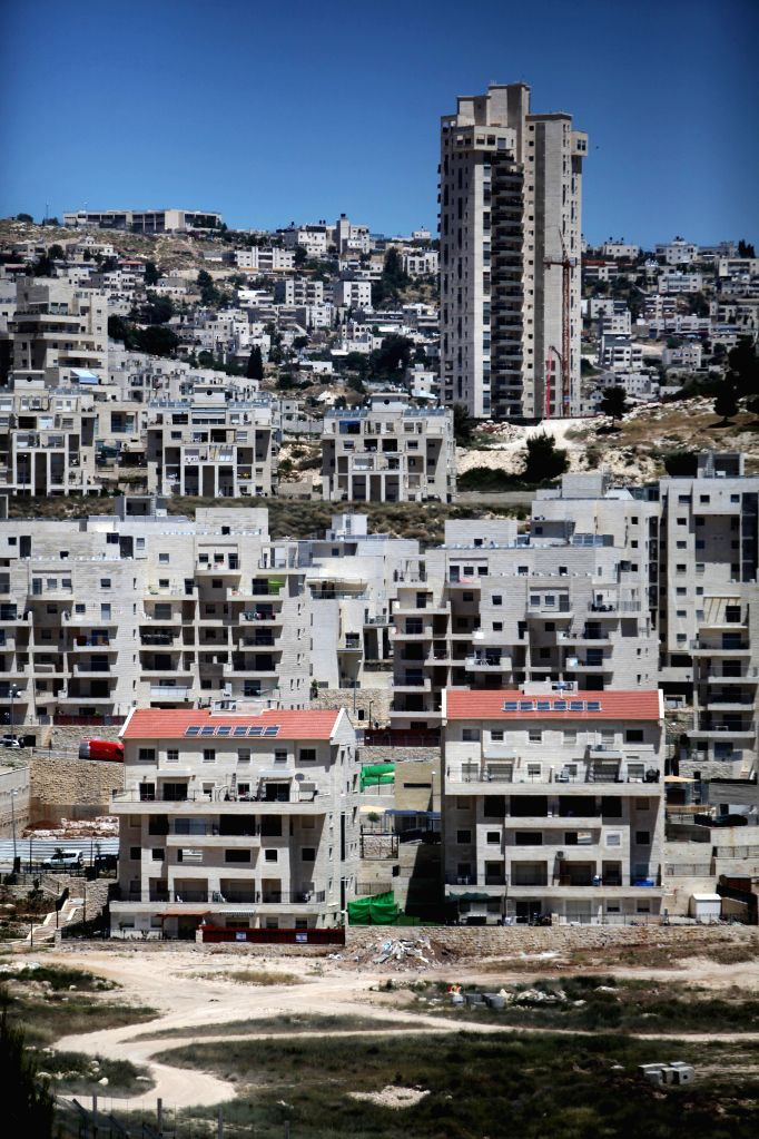 Photo taken on April 29, 2014 shows a general view of new buildings at the Israeli settlement of Har Homa near the West Bank city of Bethlehem. The Israel-based .