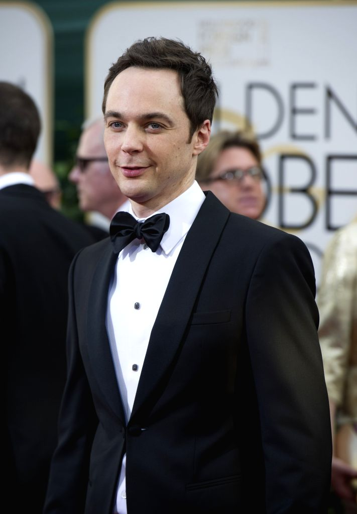 :BEVERLY HILLS, Jan. 13, 2014 (Xinhua/IANS)Actor Jim Parsons arrives for the 71st annual Golden Globe Awards in Beverly Hills, California, the United States, on Jan. 12, 2014. (Xinhua/Yang Lei).