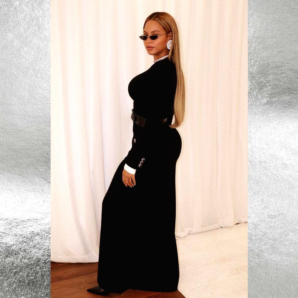 Beyonce slays in all-black ensemble.(photo:instagram)