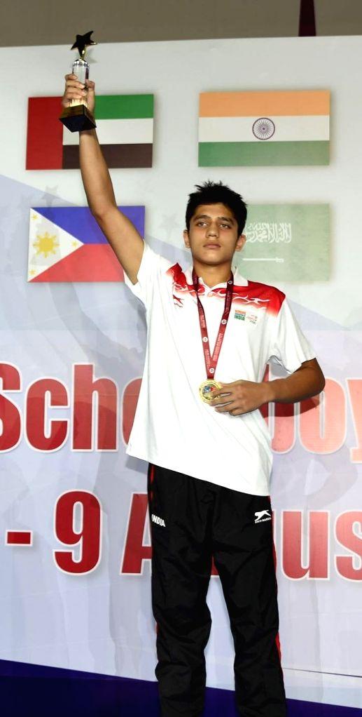 Bharat Joon won Gold at the Asian School Boys Boxing Championship.