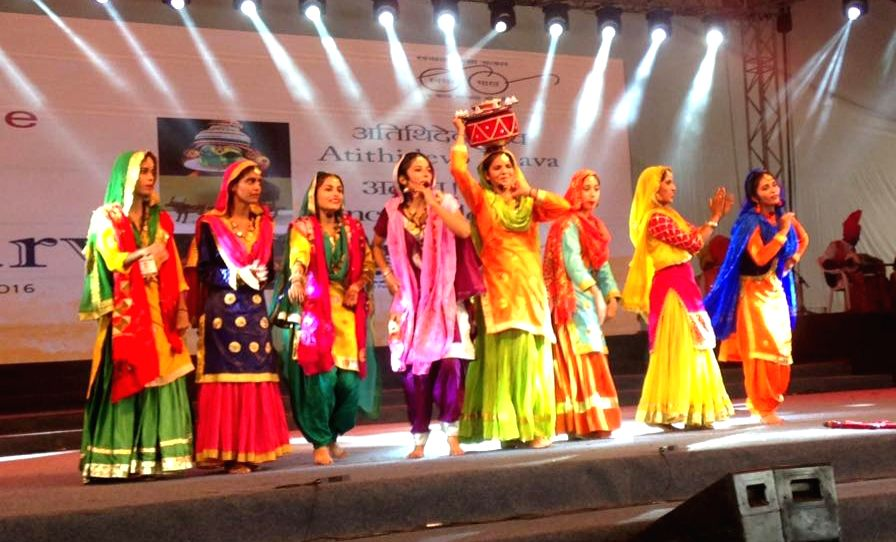 Bharat Parv - a cultural extravaganza, organised by the Ministry of Tourism underway at the Rajpath Lawns, India Gate, in New Delhi on Aug 14, 2016.