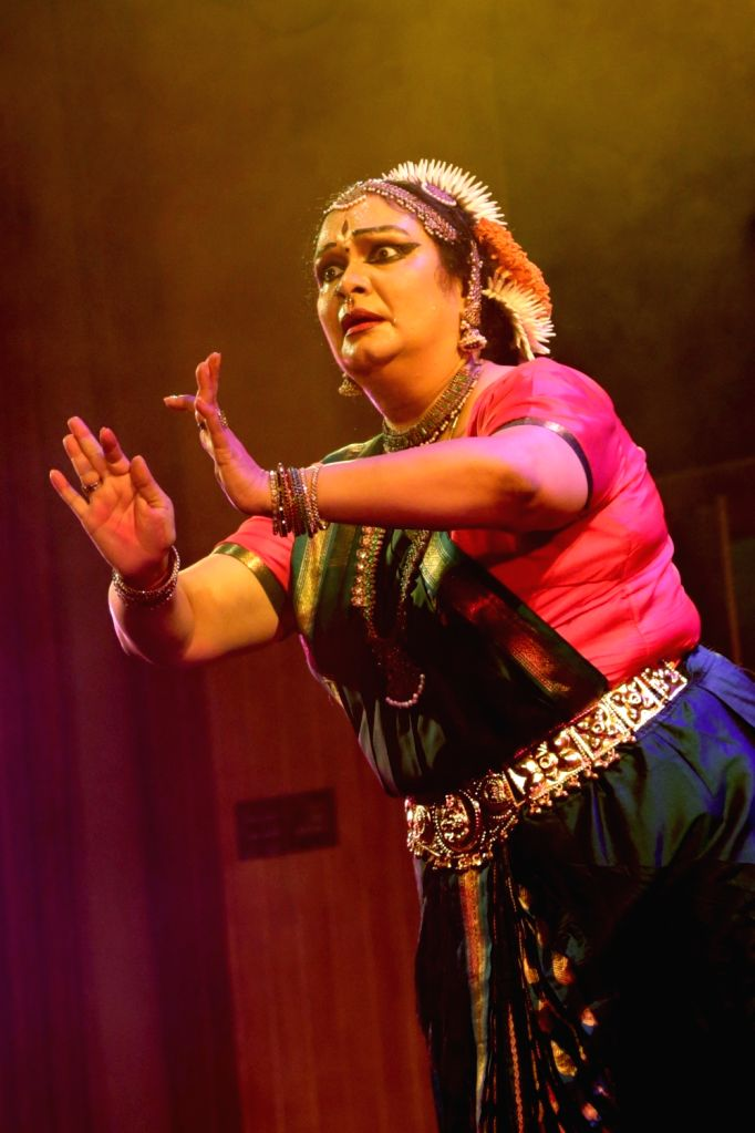 Bharata Natyam dancer Prathibha Prahlad during a programme in New Delhi on May 17, 2017.