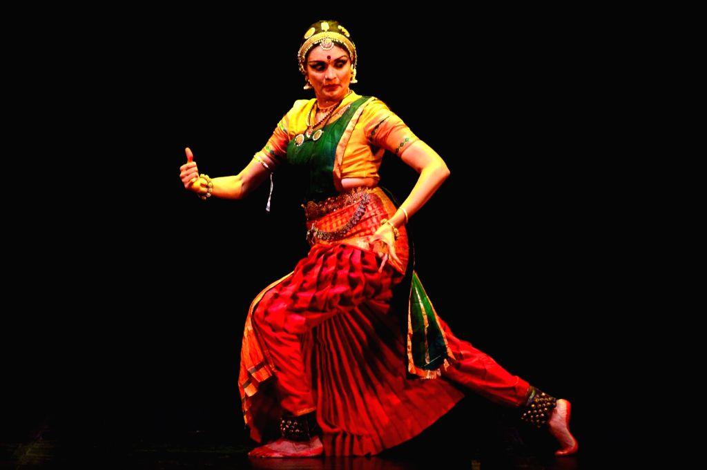 Bharatnayam dancer Priyadarshini Govind performs at Rashtrapati Bhavan in New Delhi on June 25, 2016.