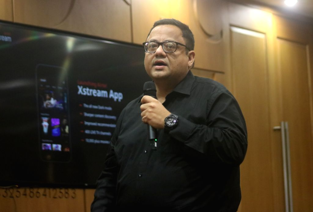Bharti Airtel CEO (Content & Apps) Sameer Batra addresses a press conference at the launch of Airtel Xstream in New Delhi on Sep 2, 2019.