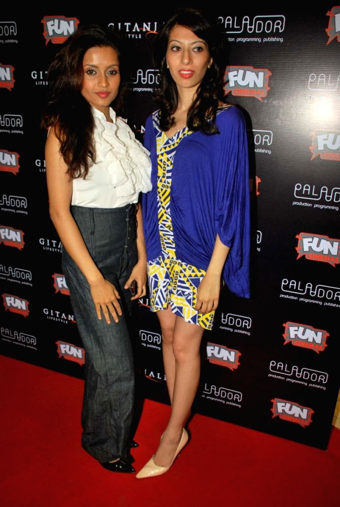 """Bhavana Pani at special screening of movie """"99"""" at Fame."""