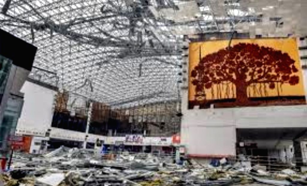 Bhubaneswar:  A view of the Bhubaneswar airport that suffered significant damage due to the impact of extremely severe cyclonic storm 'Fani', on May 4, 2019. The Central government expects to make the Bhubaneswar airport operational by 1 p.m. on Satu