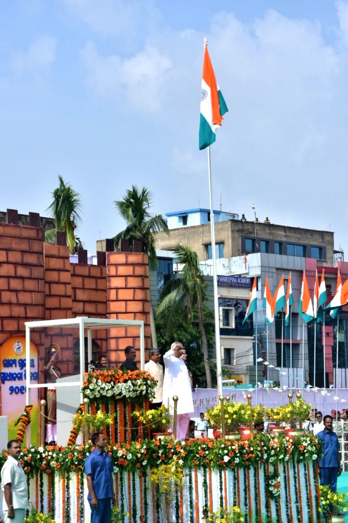 Bhubaneswar, Aug 15 (IANS) The Independence Day was celebrated across Odisha on Saturday with Chief Minister Naveen Patnaik hoisting the Tricolour at Exhibition Ground here and paying tribute to Covid warriors in his address to the state. - Naveen Patnaik
