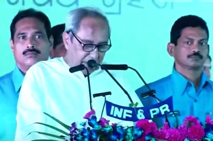 Bhubaneswar: Naveen Patnaik takes oath as Odisha Chief Minister during a function in Bhubaneswar on May 29, 2019. He was re-elected with a decisive majority in the Assembly elections. The 72-year-old Biju Janata Dal chief became one of the longest-se
