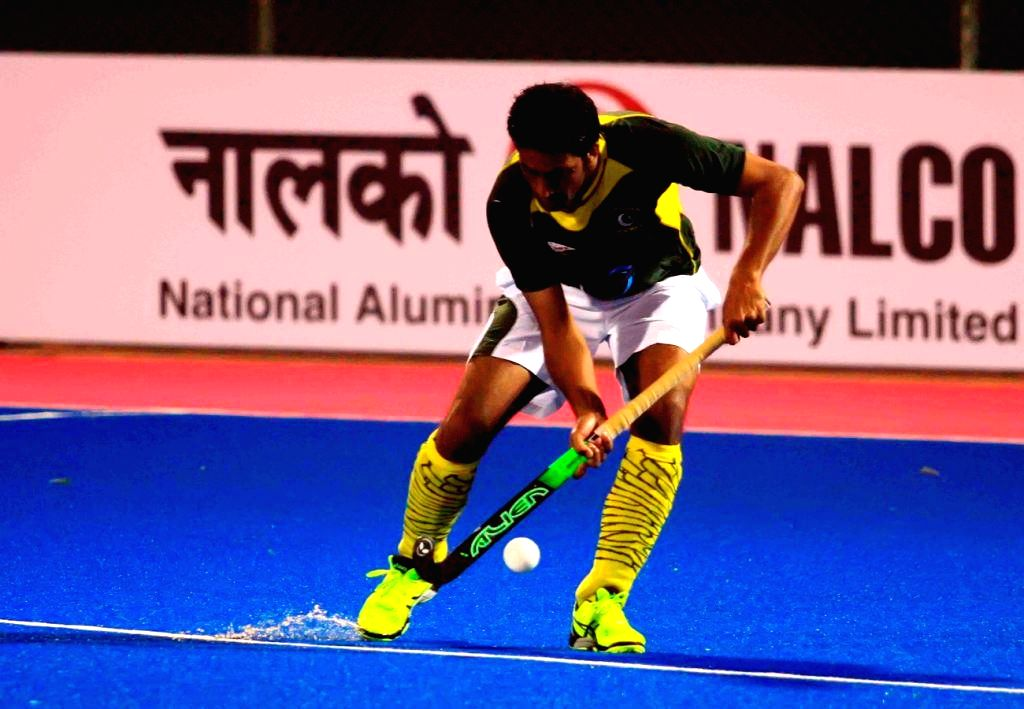 Pakistan players in action during a practice session of Hero Men`s Champions Trophy 2014 at Kalinga Stadium in Bhubaneswar on Dec 5, 2014.