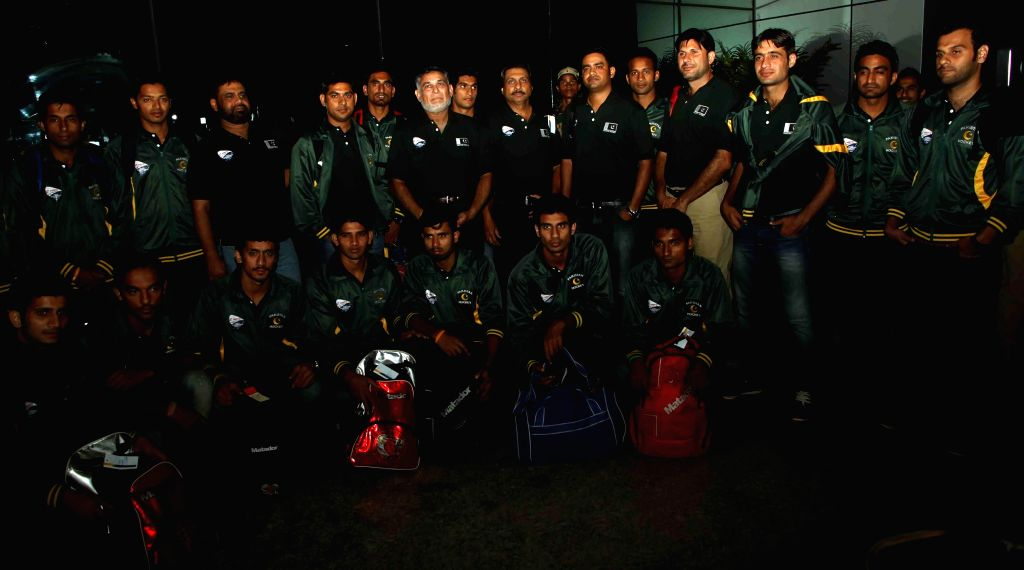 Pakistani Hockey team arrives in Bhubaneswar, on Dec 2, 2014. (Photo : IANS)