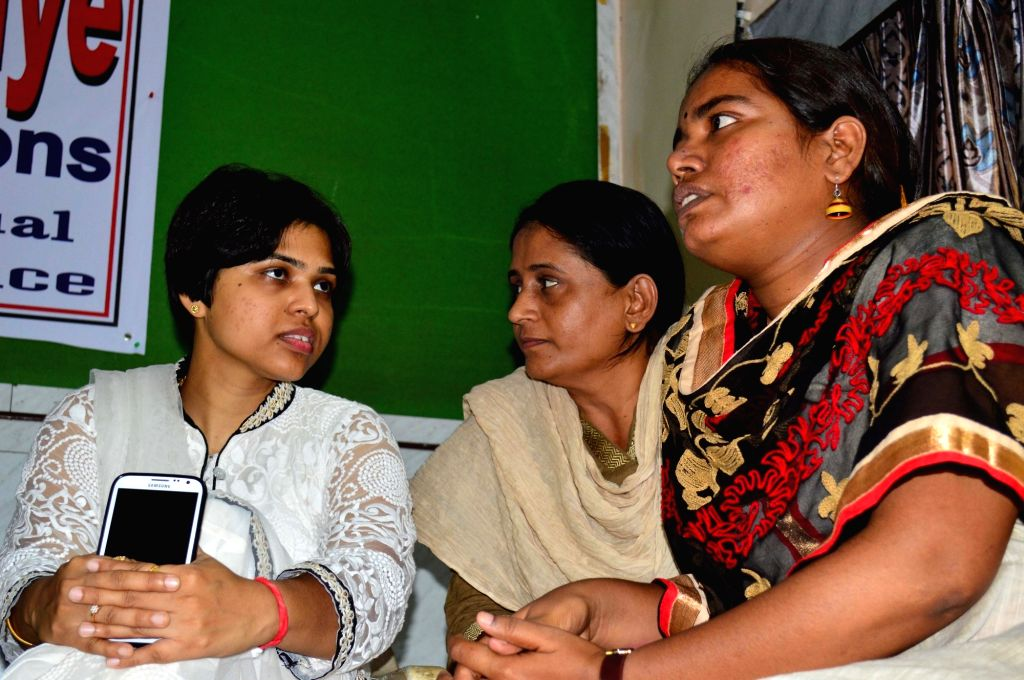 Bhumata Brigade president Trupti Desai during a press conference regarding women's entry in Haji Ali Dargah; in Mumbai on April 20, 2016. - Trupti Desai