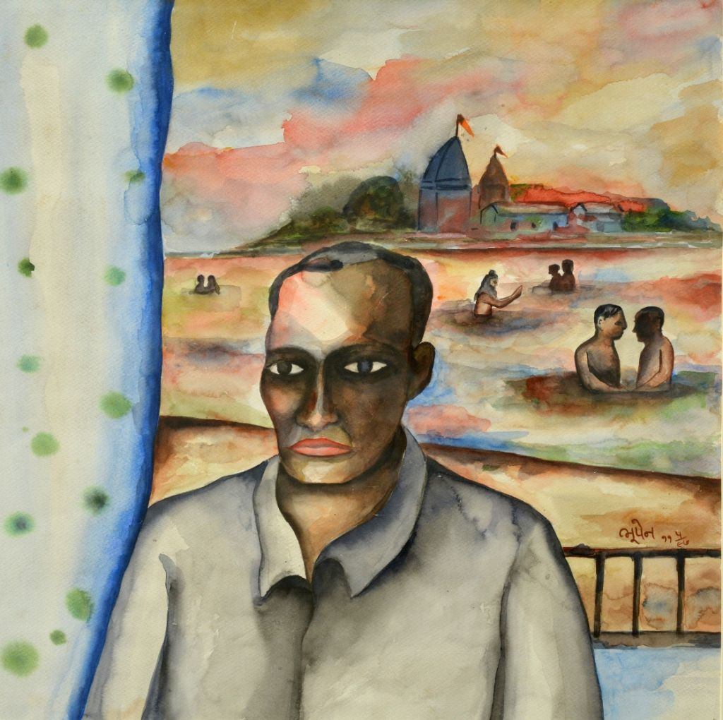 Bhupen Khakhar, Untitled, Watercolour on paper.